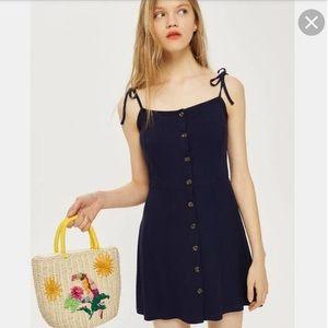 Topshop Button Down Mini Dress